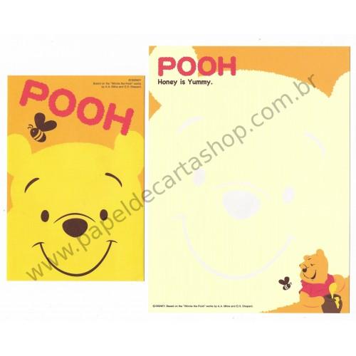 Conjunto de Papel de Carta Importado Disney Pooh Honey is Yummy