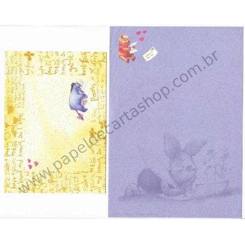 Conjunto de Papel de Carta Importado Disney Pooh To Pooh From Me