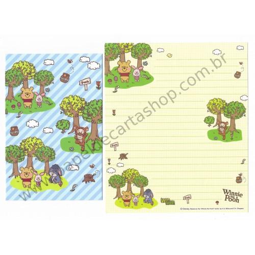 Kit 3 Conjuntos de Papel de Carta Disney Pooh (Trio)