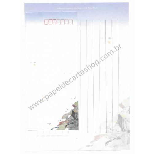 Conjunto de Papel de Carta Antigo (Vintage) Buddhist Sutra CLL - Aki Miyajima