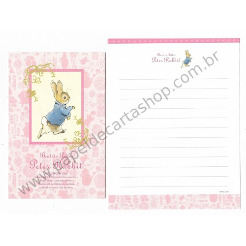 Conjunto de Papel de Carta Importado Peter Rabbit 05