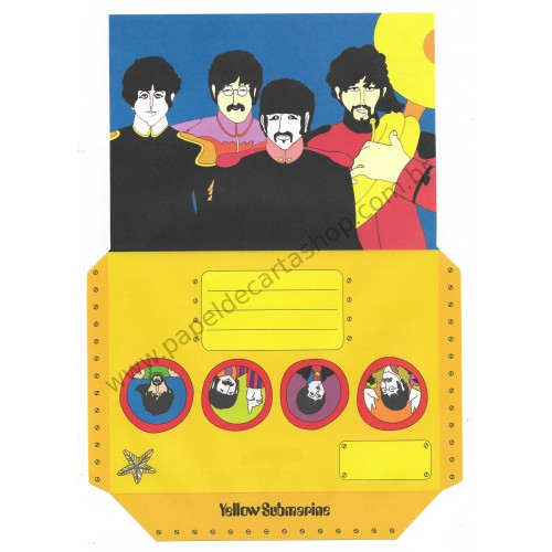 Papel de Carta Beatles Yellow Submarine I