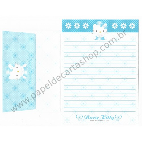 Ano 2001. Conjunto de Papel de Carta Hello Kitty Nurse 1 Sanrio