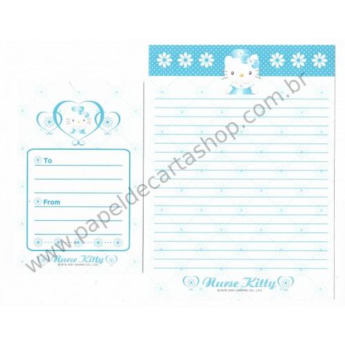 Ano 2001. Conjunto de Papel de Carta Hello Kitty Nurse 2 Sanrio