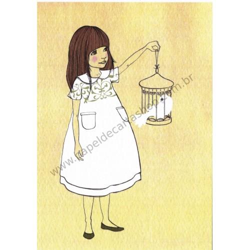 Cartão Postal Gentleness White - Belle & Boo