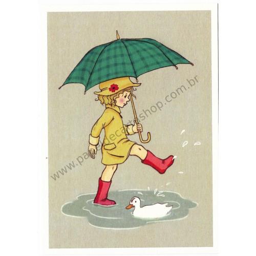 Cartão Postal Umbrella - Belle & Boo