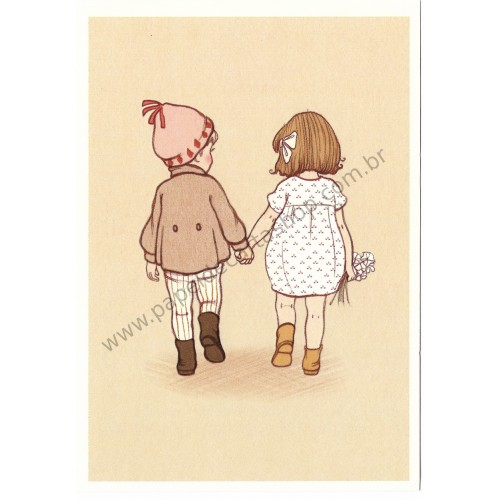 Cartão Postal Together - Belle & Boo