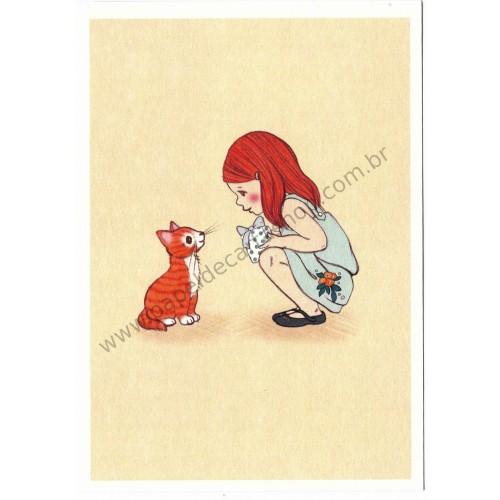 Cartão Postal Kitty - Belle & Boo