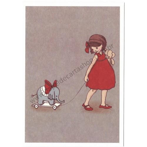 Cartão Postal Elephant - Belle & Boo