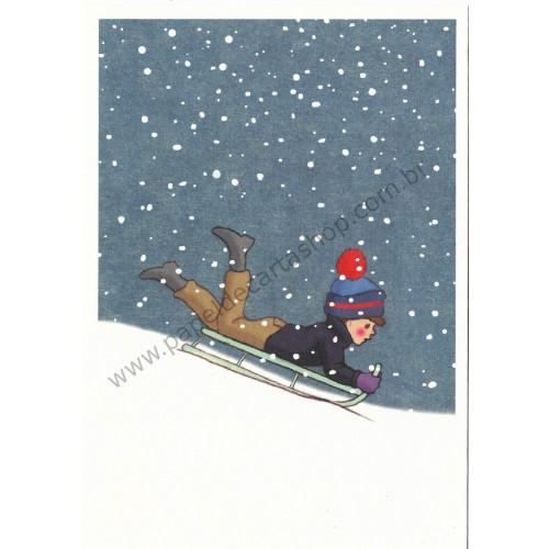 Cartão Postal Wweeeeeee! - Belle & Boo