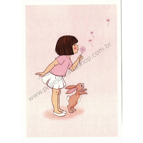 Cartão Postal Dandelion - Belle & Boo