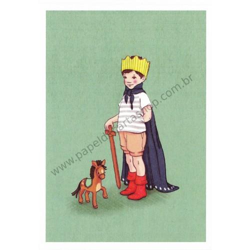 Cartão Postal I am King - Belle & Boo