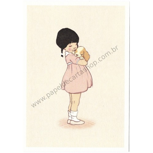 Cartão Postal Puppy Love - Belle & Boo