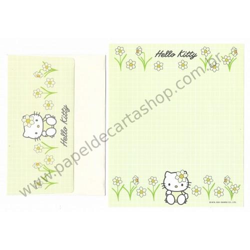 Ano 2001. Conjunto de Papel de Carta Hello Kitty Spring CVD - Sanrio