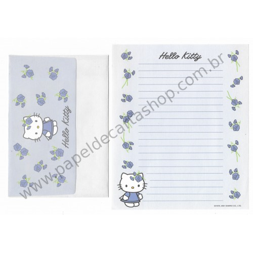 Ano 2001. Conjunto de Papel de Carta Hello Kitty Spring CLL - Sanrio