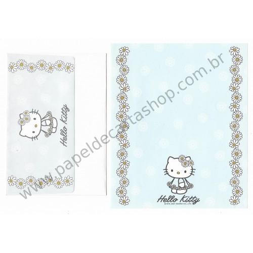 Ano 2001. Conjunto de Papel de Carta Hello Kitty Spring CAZ - Sanrio