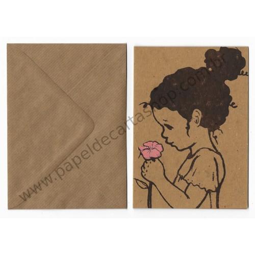 Cartão com Envelope Flower - Belle & Boo