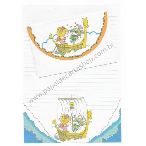 Conjunto de Papel de Carta com envelope ADO MIZUMORI 0034