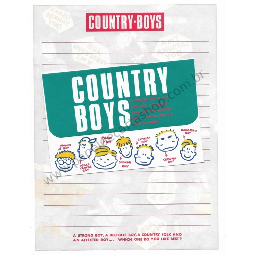 Conjunto de Papel de Carta Antigo (Vintage) Country Boys