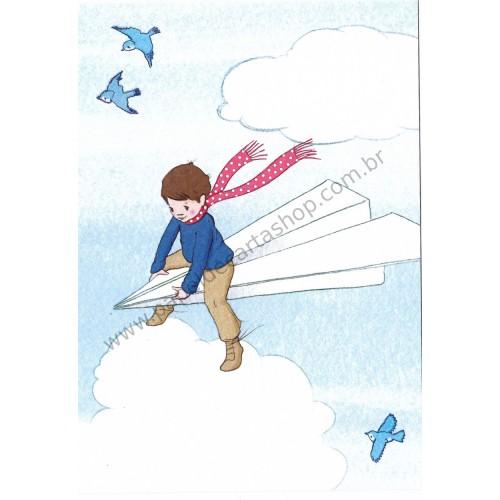 Cartão Postal Paper Plane - Belle & Boo