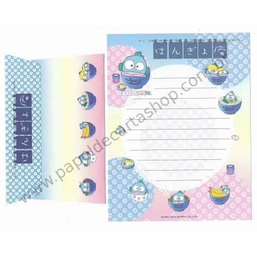 Ano 2002. Conjunto de Papel de Carta Hangyodon - Sanrio