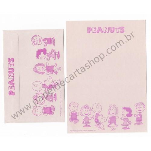 Conjunto de Papel de Carta Antigo (Vintage) Peanuts CRS Hallmark Japan
