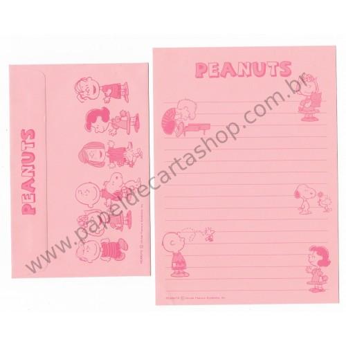 Conjunto de Papel de Carta Antigo (Vintage) Peanuts CPK Hallmark Japan