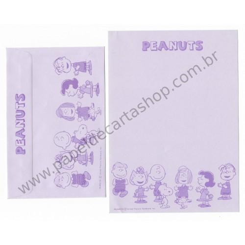 Conjunto de Papel de Carta Antigo (Vintage) Peanuts CLL Hallmark Japan