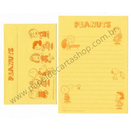 Conjunto de Papel de Carta Antigo (Vintage) Peanuts CAM Hallmark Japan