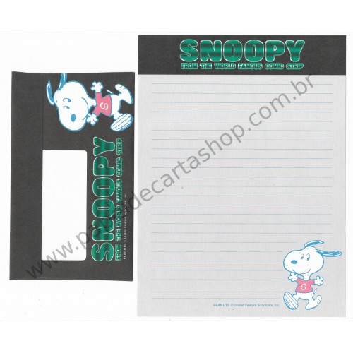 Conjunto de Papel de Carta Antigo Snoopy CPV (Vintage) Peanuts Hallmark Japan