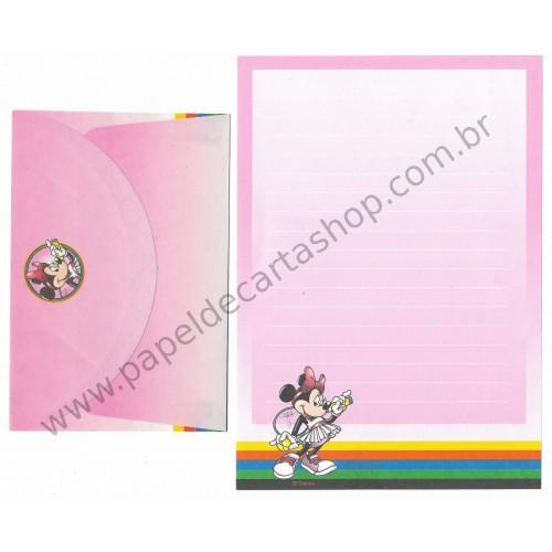 Conjunto de Papel de Carta ANTIGO Personagens Disney Minnie Tennis
