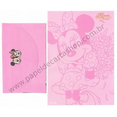 Conjunto de Papel de Carta ANTIGO Personagens Disney Minnie CRS