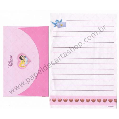Conjunto de Papel de Carta ANTIGO Personagens Disney Princess