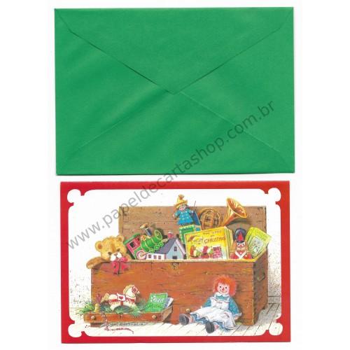 Cartão ANTIGO COM ENVELOPE Raggedy Ann CVD