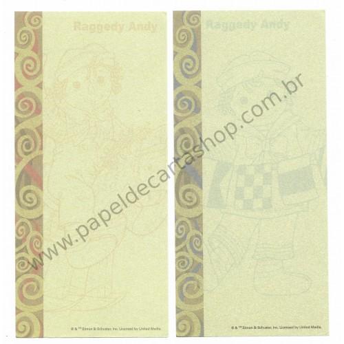 Kit 4 Papéis de Carta P Importados Raggedy Ann & Andy