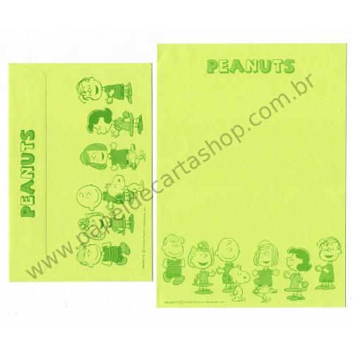 Conjunto de Papel de Carta Antigo (Vintage) Peanuts CLI Hallmark Japan