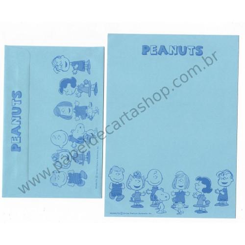 Conjunto de Papel de Carta Antigo (Vintage) Peanuts CAZ Hallmark Japan