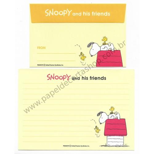 Conjunto de Papel de Carta Antigo (Vintage) Snoopy and his Friends CAM - Japan