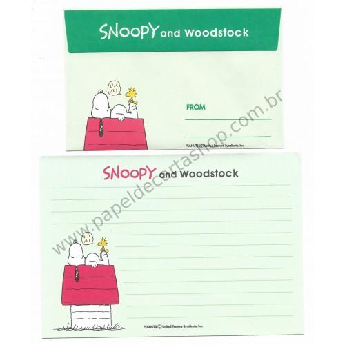Conjunto de Papel de Carta Antigo (Vintage) Snoopy and his Friends CVD - Japan