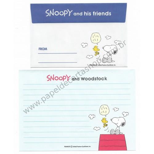 Conjunto de Papel de Carta Antigo (Vintage) Snoopy and his Friends CAZ - Japan