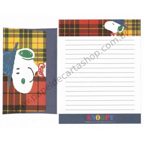 Conjunto de Papel de Carta Antigo (Vintage) Snoopy XDZ - Peanuts Hallmark Japan