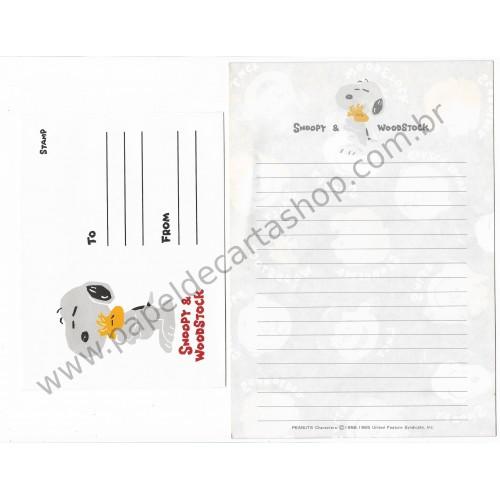 Conjunto de Papel de Carta Peanuts Characters CVM - Peanuts Hallmark Japan