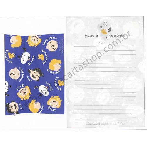 Conjunto de Papel de Carta Peanuts Characters CAZ - Peanuts Hallmark Japan