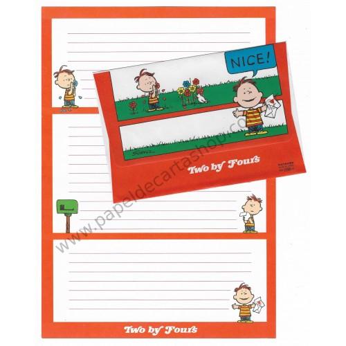 Conjunto de Papel de Carta Antigo (VIntage) Snoopy Two by Fours CVM