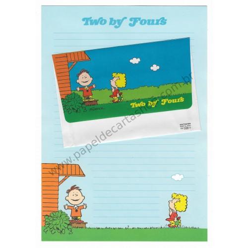 Conjunto de Papel de Carta Antigo (VIntage) Snoopy Two by Fours CAZ