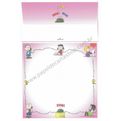 Conjunto de Papel de Carta Antigo (VIntage) Snoopy & Friends Ring