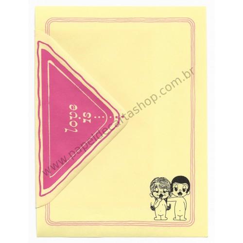 Conjunto de Papel de Carta Antigo Importado Love is... 04