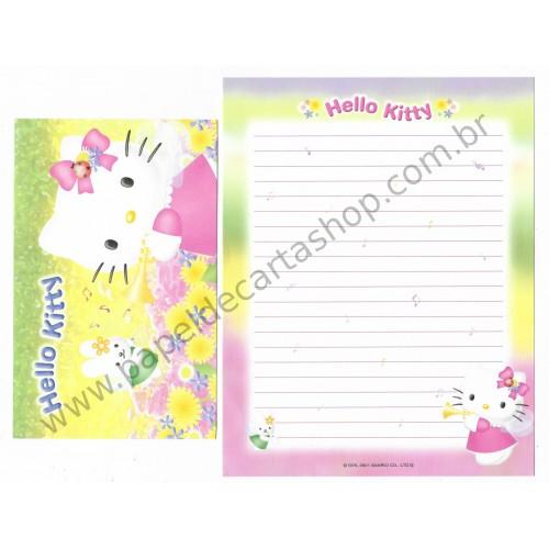 Ano 2001. Conjunto de Papel de Carta Hello Kitty Jo Sanrio