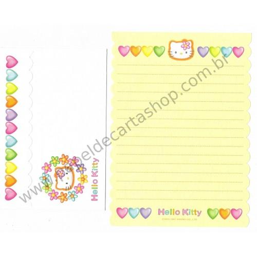 Ano 1997. Conjunto de Papel de Carta Hello Kitty CAM Antigo (Vintage) Sanrio