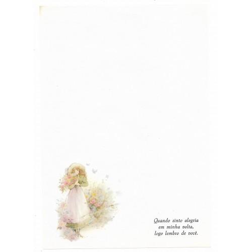 Papel de Carta Antigo Coleção Primavera 03M